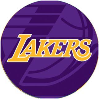 Los Angeles Lakers Padded Ribbed Black Bar Stool