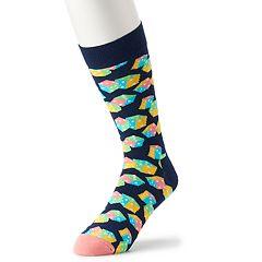Men's HS by Happy Socks Patterned Crew Socks