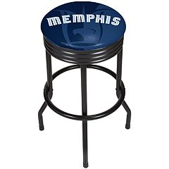 Memphis Grizzlies Padded Ribbed Black Bar Stool