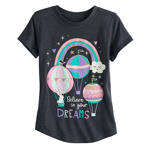 "Girls 4-10 Jumping Beans® ""Believe In Your Dreams"" Tee"