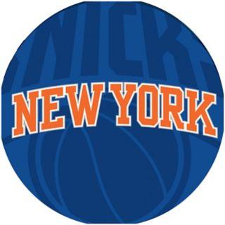 New York Knicks Padded Ribbed Black Bar Stool