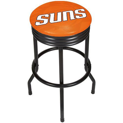 Phoenix Suns Padded Ribbed Black Bar Stool