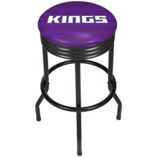 Sacramento Kings Padded Ribbed Black Bar Stool