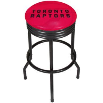Toronto Raptors Padded Ribbed Black Bar Stool