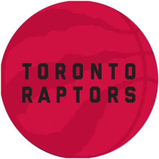 Toronto Raptors Padded Ribbed Black Bar Stool