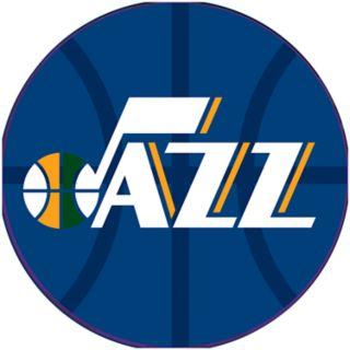 Utah Jazz Padded Ribbed Black Bar Stool