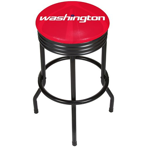 Washington Wizards Padded Ribbed Black Bar Stool