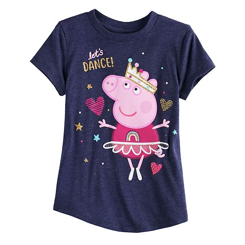 "Girls 4-10 Jumping Beans® Peppa Pig ""Let's Dance""  Tee"