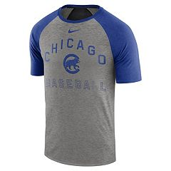 Nike Men's Chicago Cubs Dri-FIT Slubbed Raglan Tee