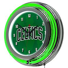 Boston Celtics Chrome Double-Ring Neon Wall Clock