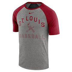 ffeaaa33a Nike Men s St. Louis Cardinals Dri-FIT Slubbed Raglan Tee