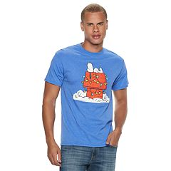 Men's Peanuts Snoopy Christmas Lights Tee