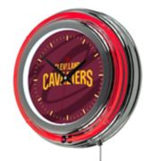 Cleveland Cavaliers Chrome Double-Ring Neon Wall Clock
