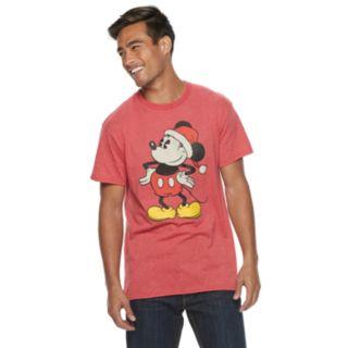 Men's Disney Santa Mickey Mouse Tee