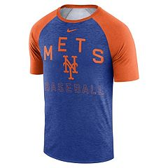 buy online 261fc 574da Nike Men s New York Mets Dri-FIT Slubbed Raglan Tee