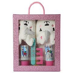 Girls 6-16 Unicorn Slipper, Foot Wash, Foot Lotion & Pedicure Set