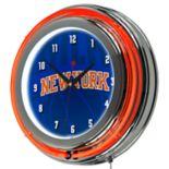New York Knicks Chrome Double-Ring Neon Wall Clock