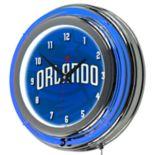 Orlando Magic Chrome Double-Ring Neon Wall Clock