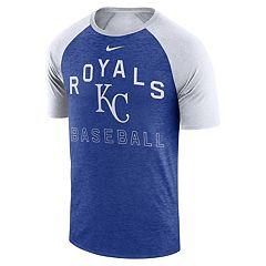 491aee48c6757 Nike Men s Kansas City Royals Dri-FIT Slubbed Raglan Tee