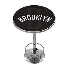 Brooklyn Nets Chrome Pub Table