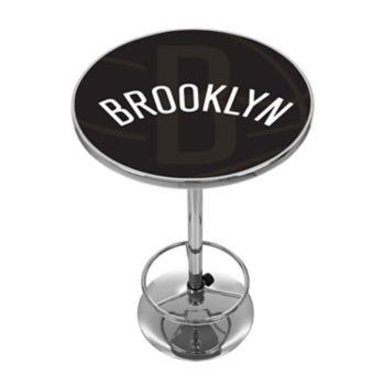 Brooklyn Nets Chrome Pub Table