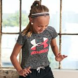 Girls Under Armour Logo Twist Short Sleeve Tee