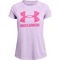 Girls Under Armour Logo Twist Short Sleeve Tee