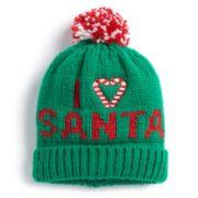 """I Heart Santa"" Knit Beanie"