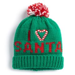 'I Heart Santa' Knit Beanie