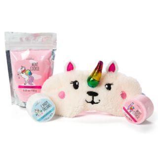Girls 6-16 Unicorn Sleep Mask, Bath Fizzies & Bath Dust Dreamy Bath Set