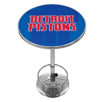 Detroit Pistons Chrome Pub Table