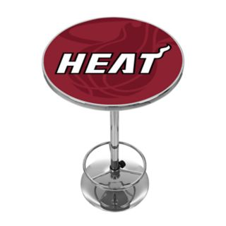 Miami Heat Chrome Pub Table