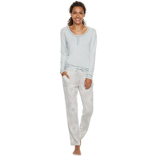 Women's INK + IVY Henley Tee & Pants Pajama Set