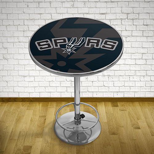 San Antonio Spurs Chrome Pub Table