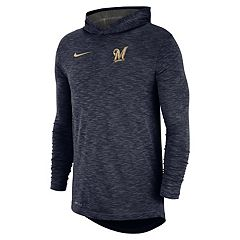 Nike Men's Milwaukee Brewers Dri-FIT Slubbed Logo Hoodie