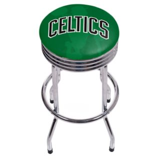 Boston Celtics Padded Ribbed Bar Stool