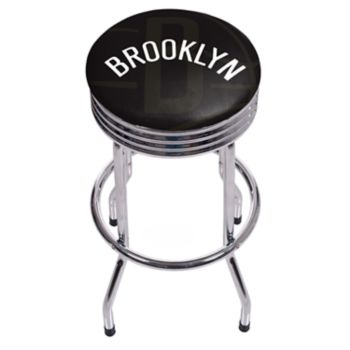 Brooklyn Nets Padded Ribbed Bar Stool