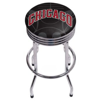 Chicago Bulls Padded Ribbed Bar Stool
