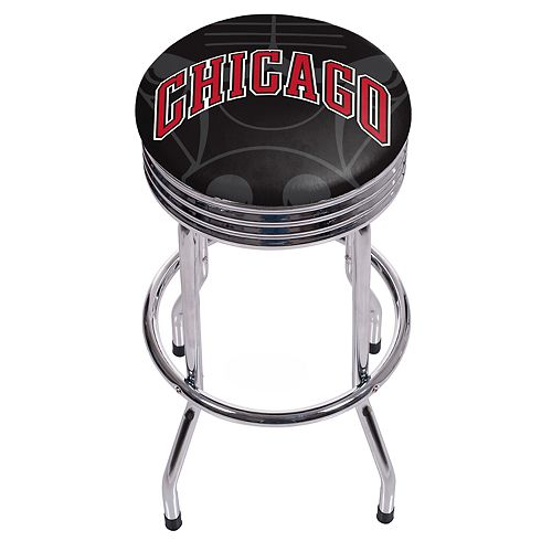 Chicago Bulls Padded Ribbed Bar Stool