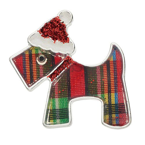 Holiday Scottie Dog Pin