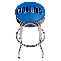 Dallas Mavericks Padded Ribbed Bar Stool
