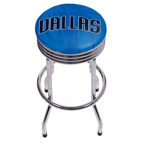 Dallas Mavericks Padded Ribbed Bar Stool