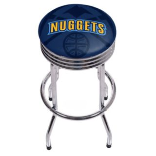 Denver Nuggets Padded Ribbed Bar Stool