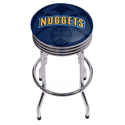 Denver Nuggets Padded Ribbed Bar Stool