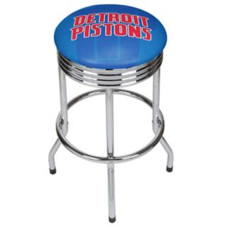 Detroit Pistons Padded Ribbed Bar Stool