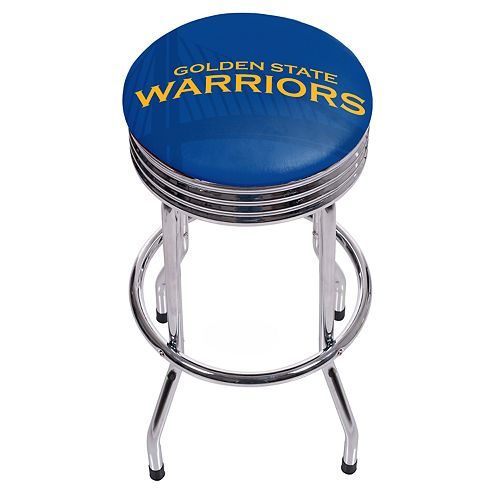 Golden State Warriors Padded Ribbed Bar Stool