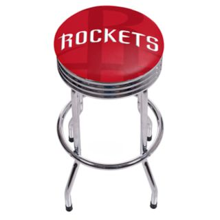 Houston Rockets Padded Ribbed Bar Stool