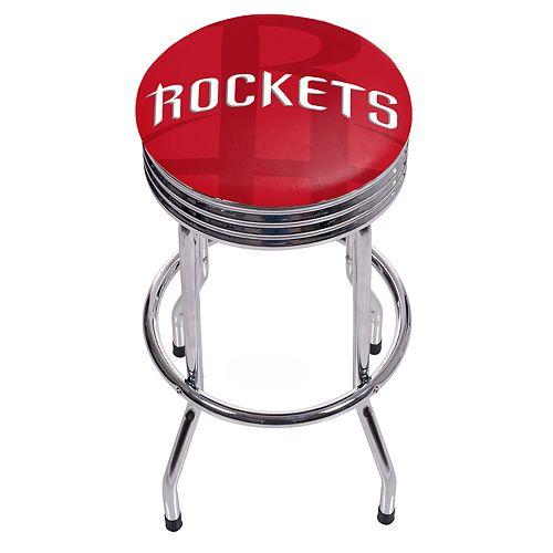 Houston Rockets Padded Ribbed Bar Stool