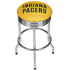 Indiana Pacers Padded Ribbed Bar Stool