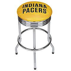 Indiana Pacers Padded Ribbed Bar Stool